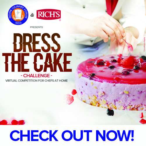 Dress the Cake, a Virtual Competition by Indian Culinary Forum (ICF) in collaboration with Rich's India